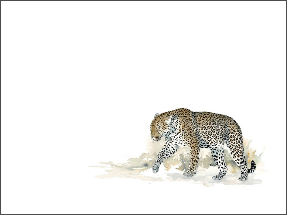 Painting of a Leopard Walking