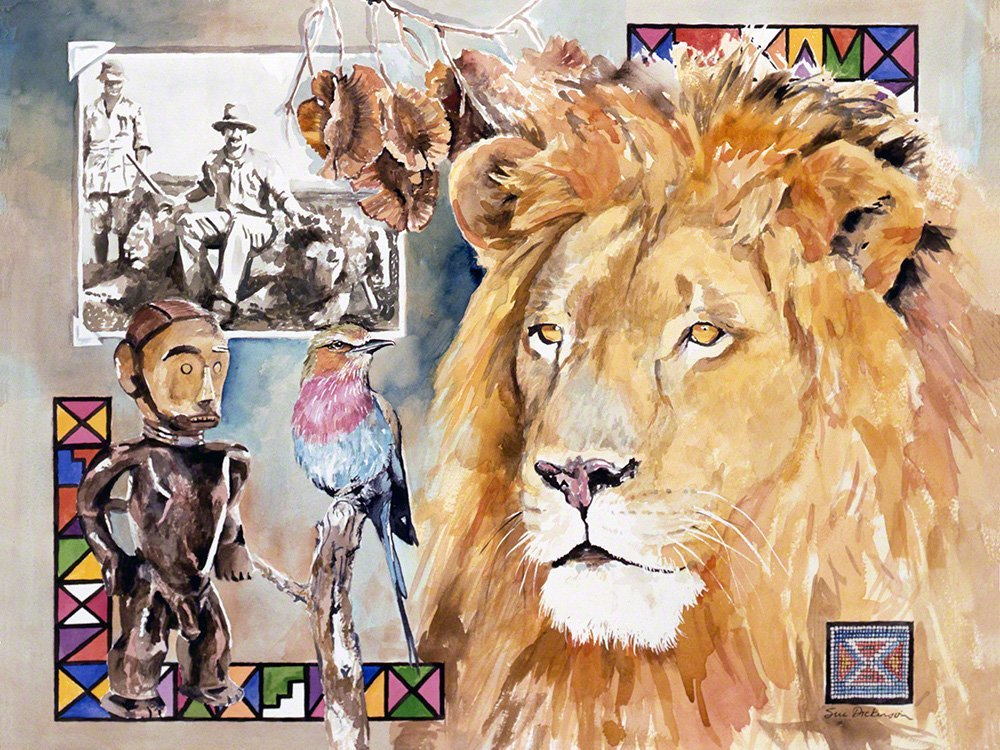 big-five-lion-art-print