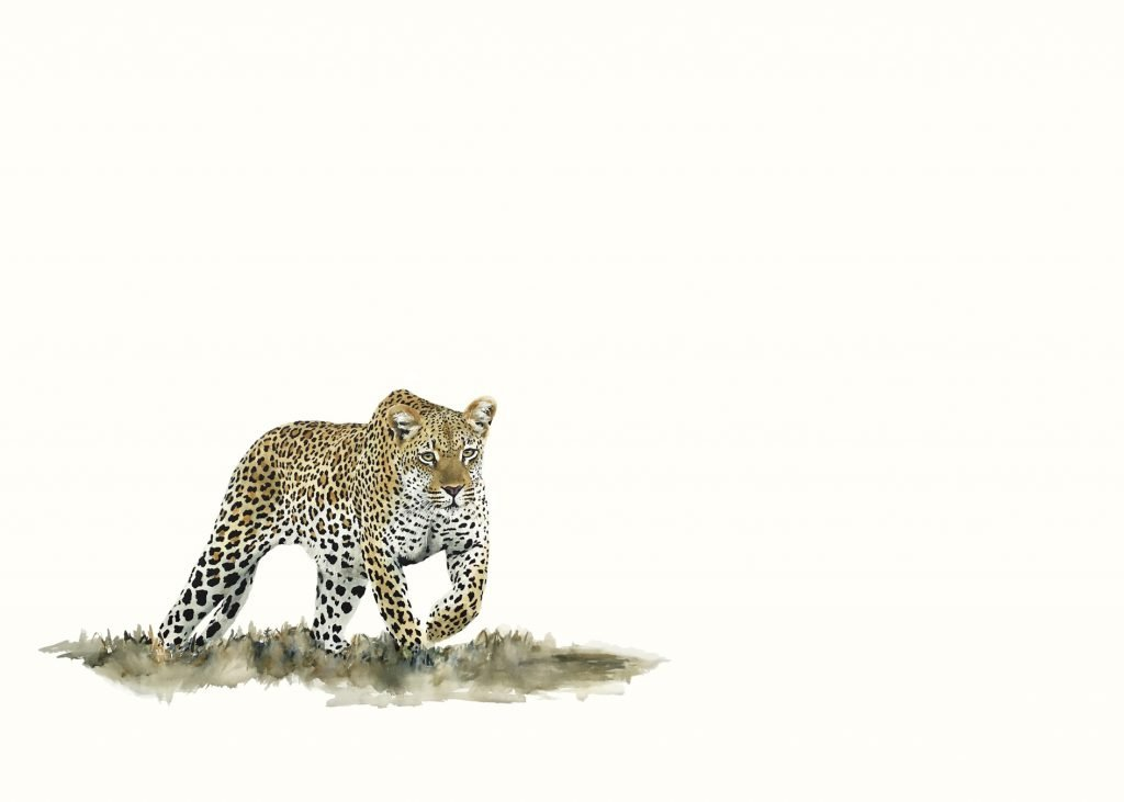 painting of a leopard
