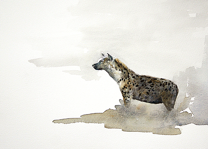 Art print of a hyena